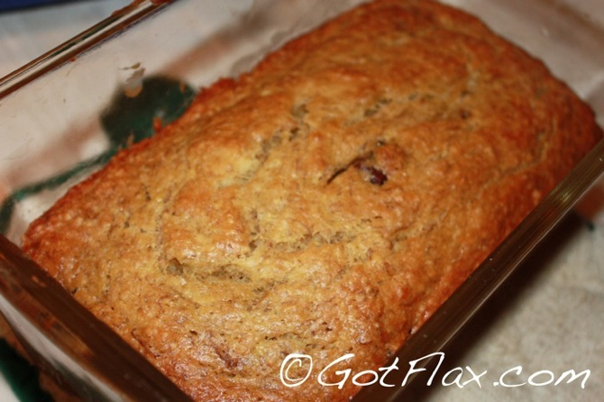 Flaxseed Banana Bread, flax banana bread, banana bread with flax, flax seed banana bread
